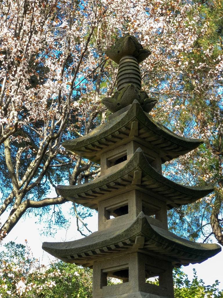 Japanese stone tower decoration
