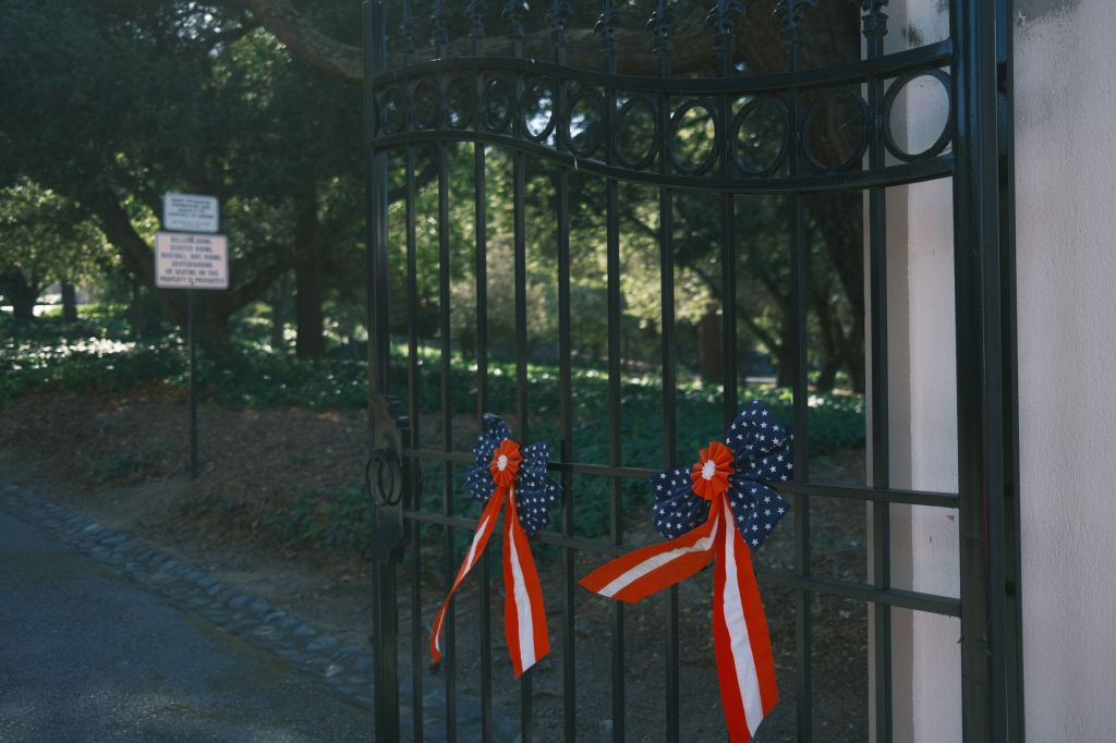 Ribbons on a gate