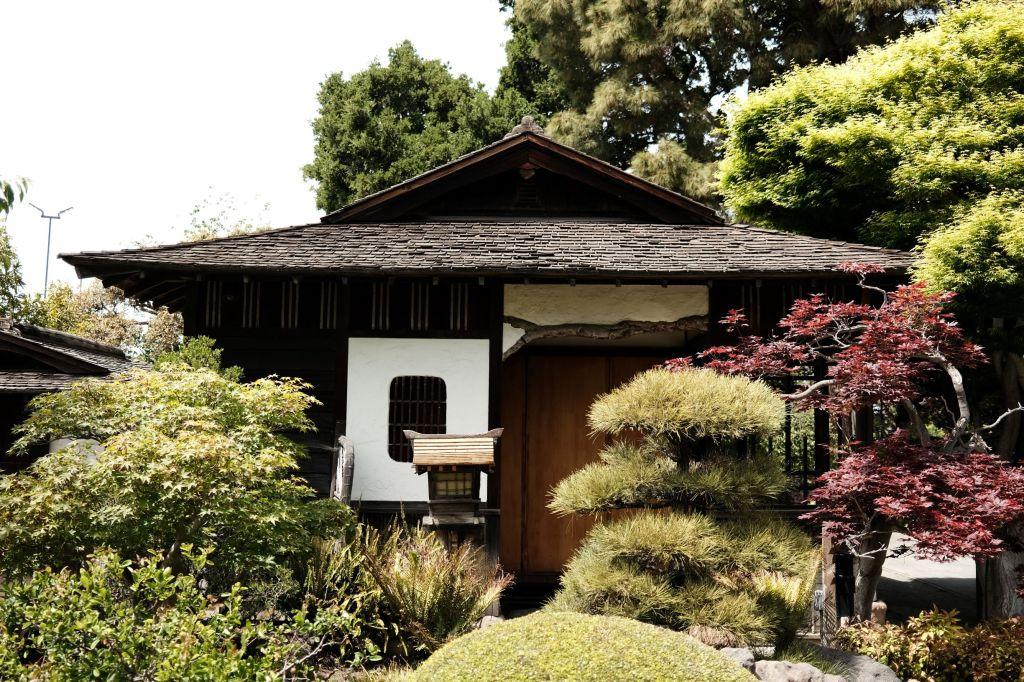 Japanese garden building
